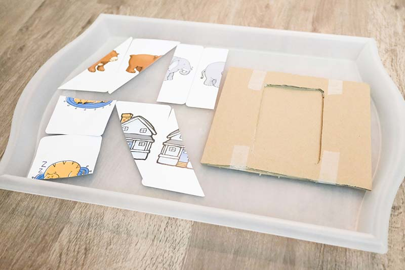 Flash Card Puzzles for Young Toddlers